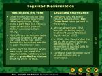 legalized discrimination