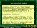 prominent black leaders