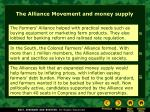 the alliance movement and money supply