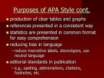 purposes of apa style cont