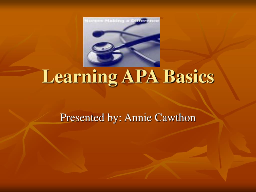 learning apa basics l.