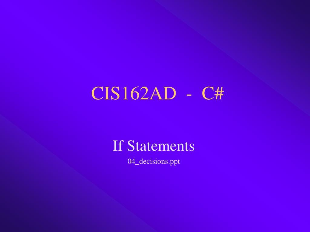 cis162ad c l.
