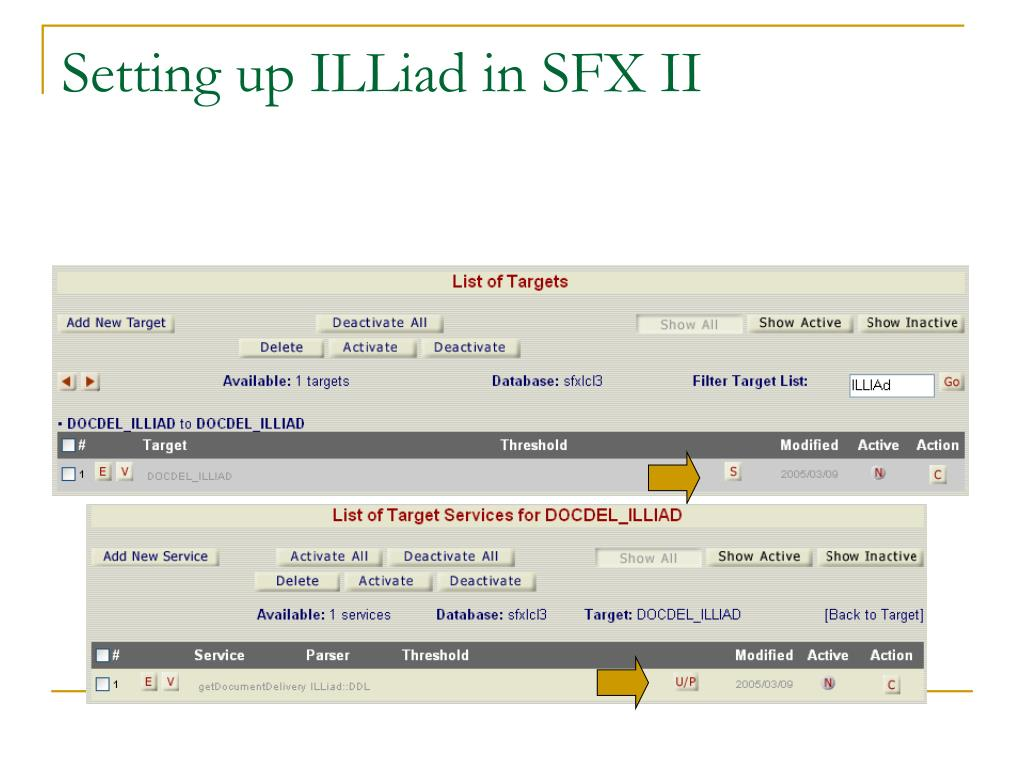 Setting up ILLiad in SFX II