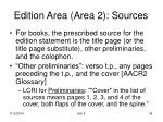 edition area area 2 sources