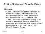 edition statement specific rules