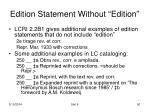 edition statement without edition