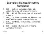 examples named unnamed revisions