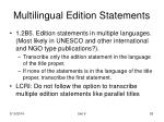 multilingual edition statements