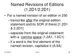named revisions of editions 1 2d1 2 2d1