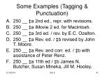 some examples tagging punctuation
