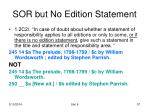 sor but no edition statement