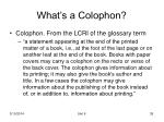 what s a colophon