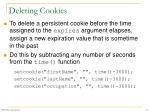 deleting cookies