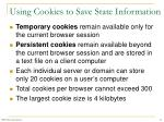 using cookies to save state information18