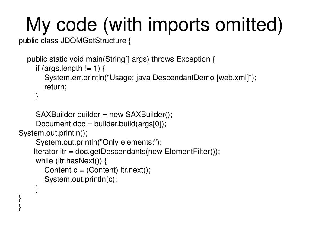My code (with imports omitted)