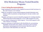 10a modernize means tested benefits programs