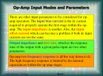 op amp input modes and parameters14