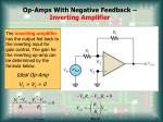 op amps with negative feedback inverting amplifier