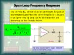 open loop frequency response