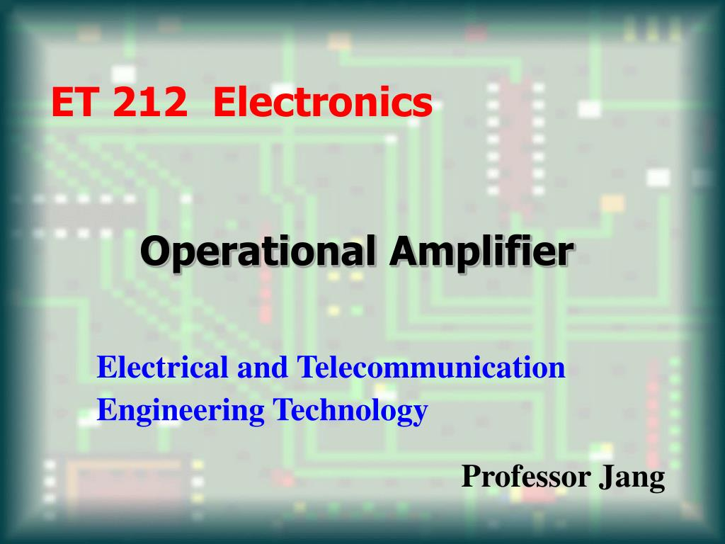 operational amplifier l.