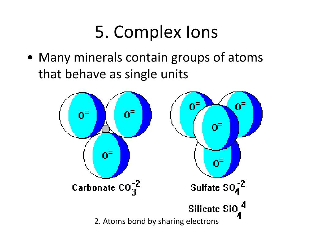 5. Complex Ions