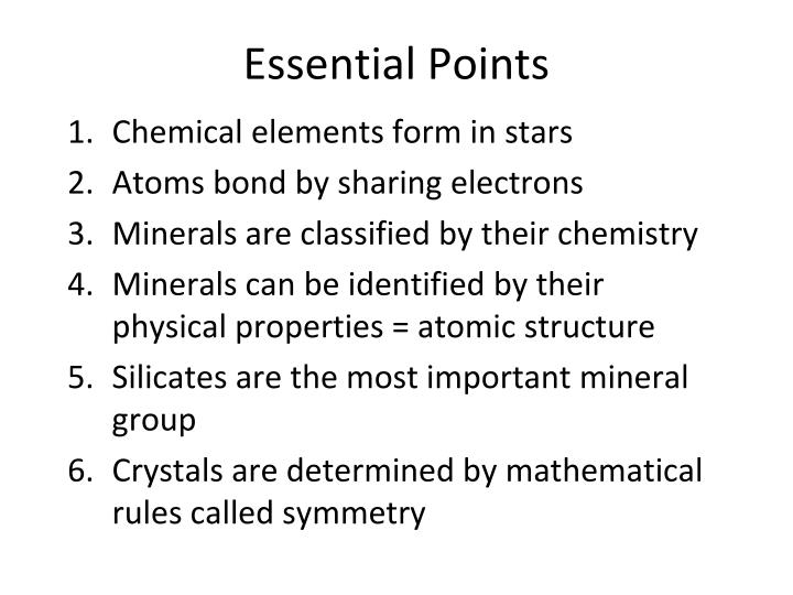 Essential points