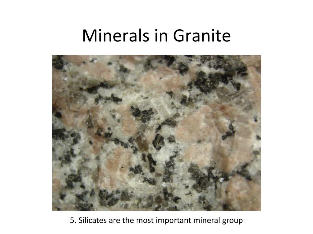 Minerals in Granite