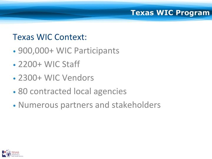 Texas wic program