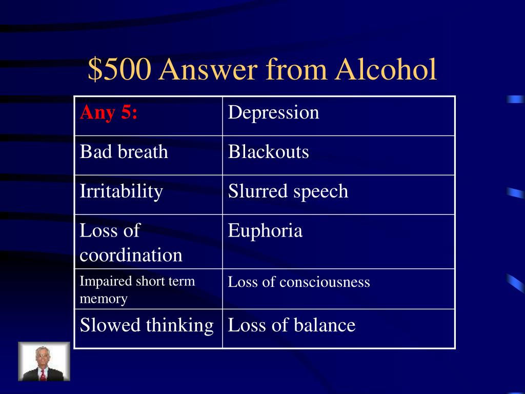 $500 Answer from Alcohol