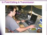 in field editing transmission