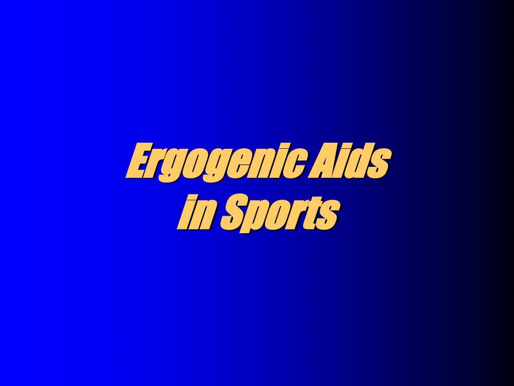 ergogenic aids in sports l.