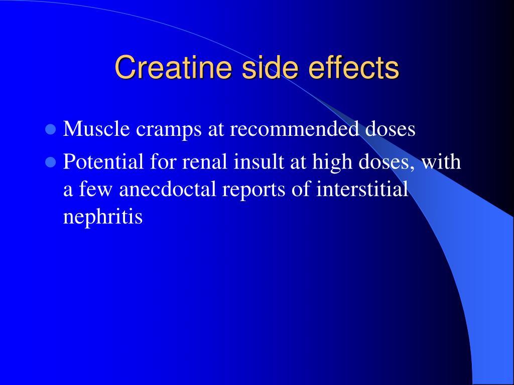 Creatine side effects