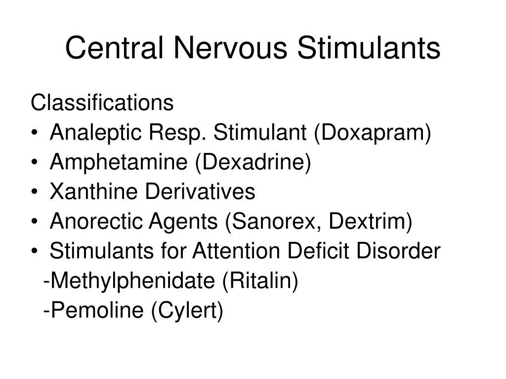central nervous stimulants l.