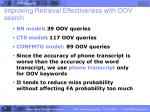 improving retrieval effectiveness with oov search