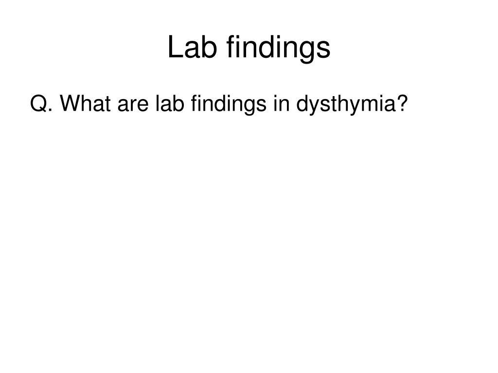Lab findings