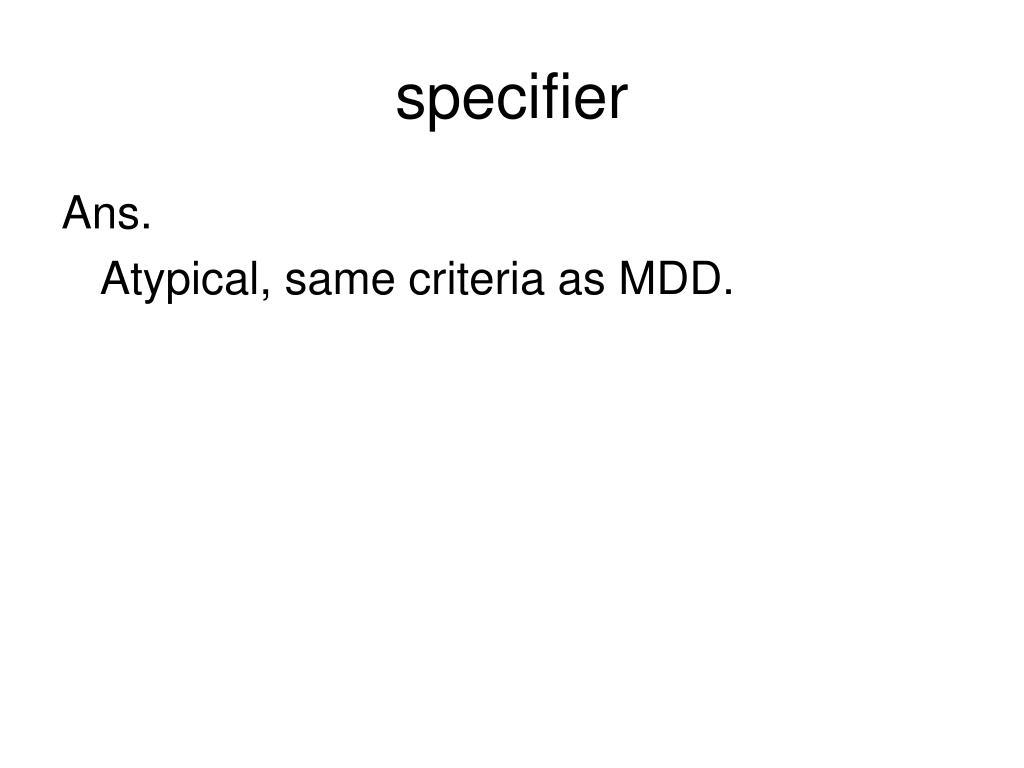 specifier