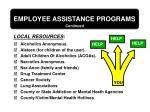 employee assistance programs82