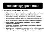 the supervisor s role27