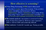 how effective is screening