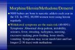 morphine heroin methadone demerol