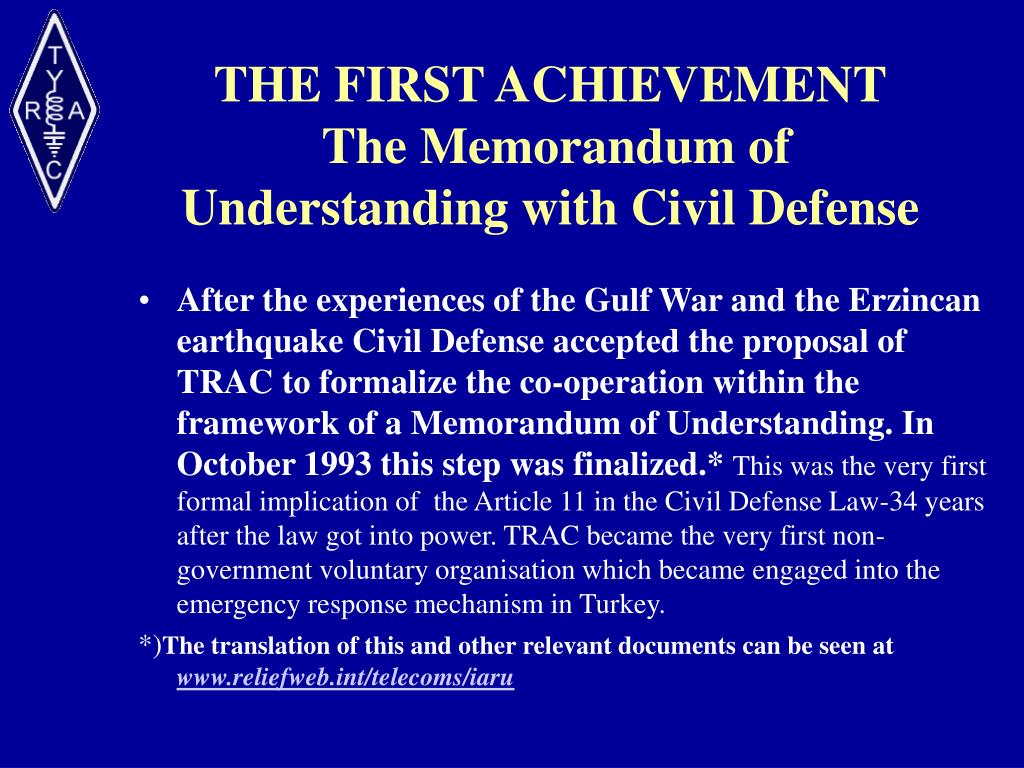 THE FIRST ACHIEVEMENT