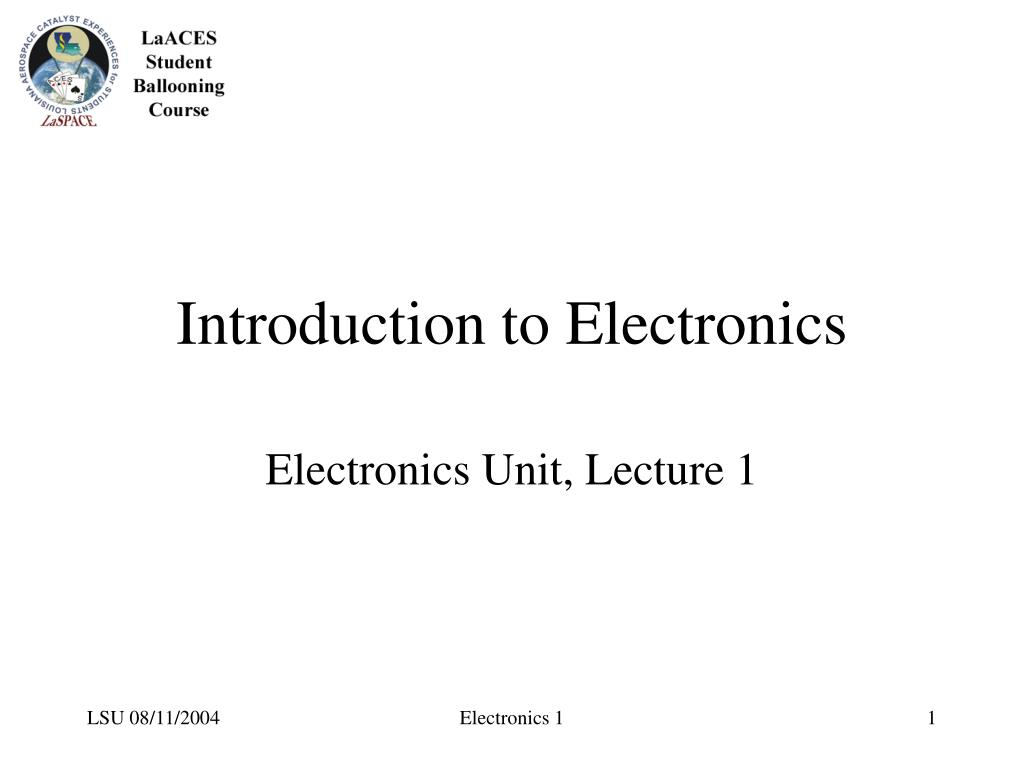 introduction to electronics l.