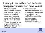 findings no distinction between newspaper brands for news values