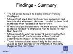 findings summary