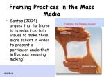 framing practices in the mass media