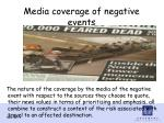 media coverage of negative events