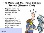 the media and the travel decision process glaesser 2004