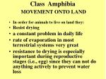 class amphibia movement onto land4