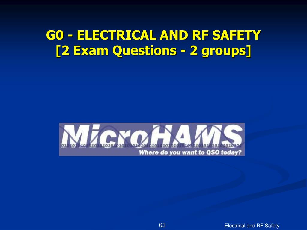 G0 - ELECTRICAL AND RF SAFETY