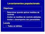 levantamentos populacionais